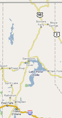 Service Area for Mobile One Roadside in Northern Idaho, Eastern Washington and Western Montana!